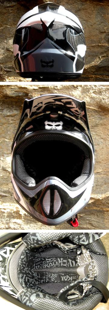 Kali Avatar II carbon fiber DH Helmet 2013 three-view