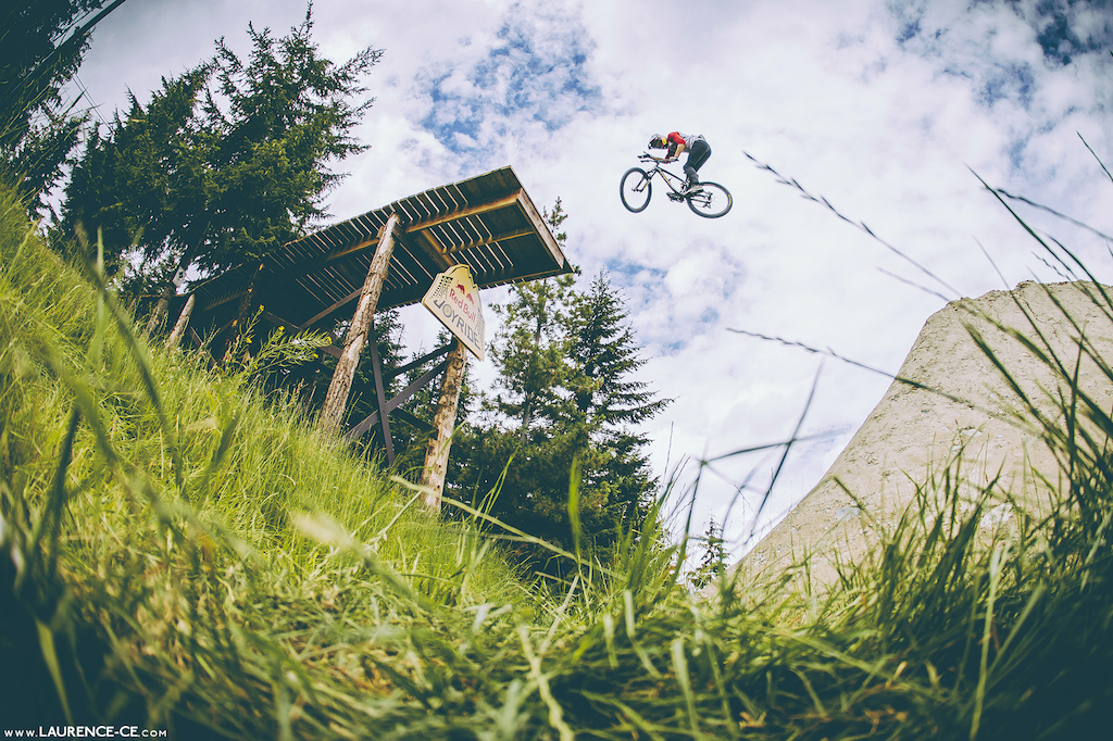 Truckdriver off the Joyride drop in - Crankworx Recited Whistler BC 2013 - Find the article on Pinkbike - Laurence CE - www.laurence-ce.com