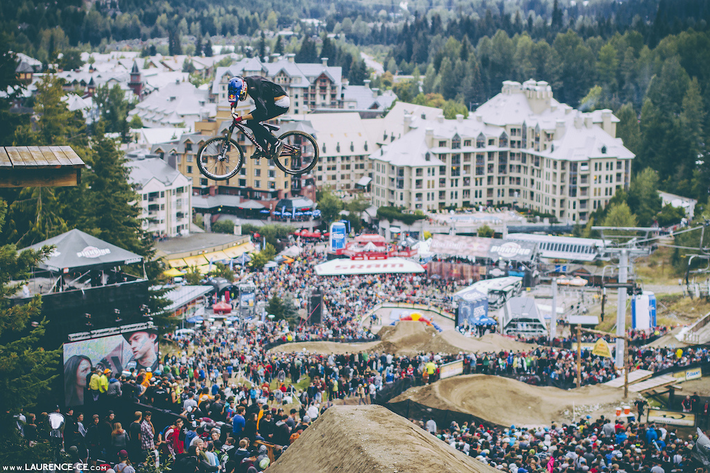 Soderstrom dropping in Joyride here we go Crankworx Recited Whistler BC 2013 - Find the article on Pinkbike - Laurence CE - www.laurence-ce.com