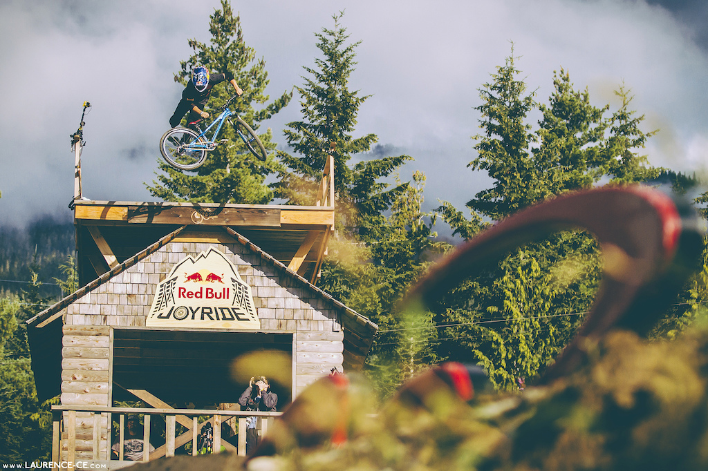 Big whip off the Joyride hut - Crankworx Recited Whistler BC 2013 - Find the article on Pinkbike - Laurence CE - www.laurence-ce.com