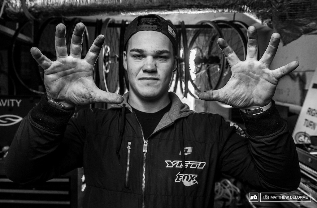 These mitts. Richie has always been a strong kid. When Richie started out on Yeti we used to have frequent arm wrestling matches. This year though I just walked away. -Jared Graves