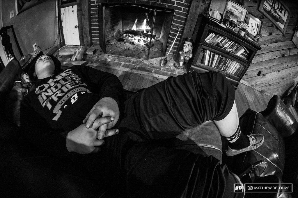At the end of the day it s good to relax by a nice warm fire.