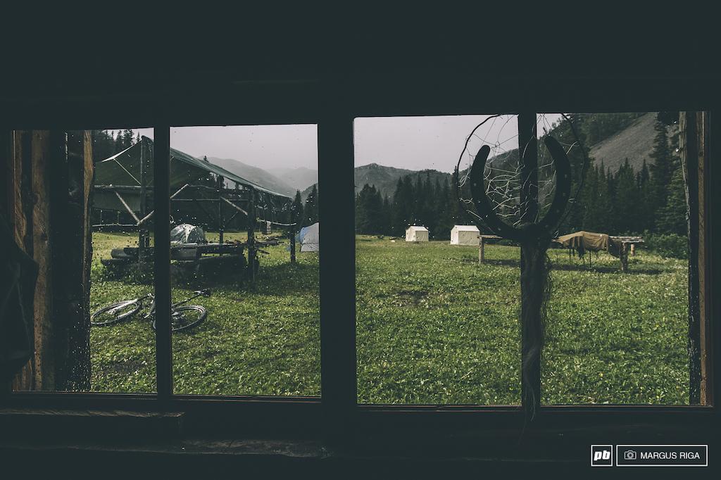 Cowboy camp Chilcotin BC.