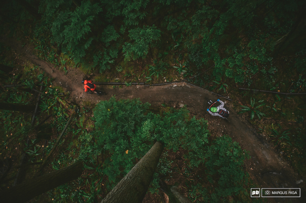 Thomas Vanderham and Brett Tippie blasting down one of a few un-official trails on the Darkside of Mount Seymour North Vancouver. Yes there are still secret trails on the Shore. No I can t tell you where they are.