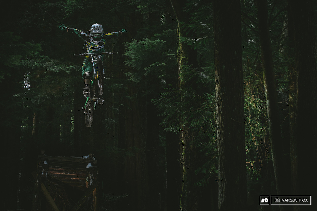 Winter in North Vancouver is my favourite time of year. You can get in a couple of ski runs in the morning on Cypress mountain then head lower down the mountain and go riding. Rider Geoff Gullevich.