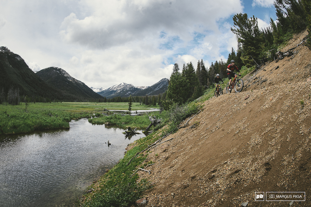 Nick and Zander Geddes first ride in the Chilcotins. Pretty sure they ll be back.