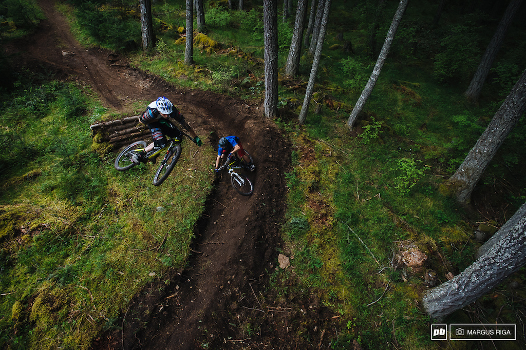 My favourite photo from the 2013 Rocky Mountain team trip. Mount Tzouhalem, Vancouver Island. Riders: Thomas Vanderham and Geoff Gullevich.