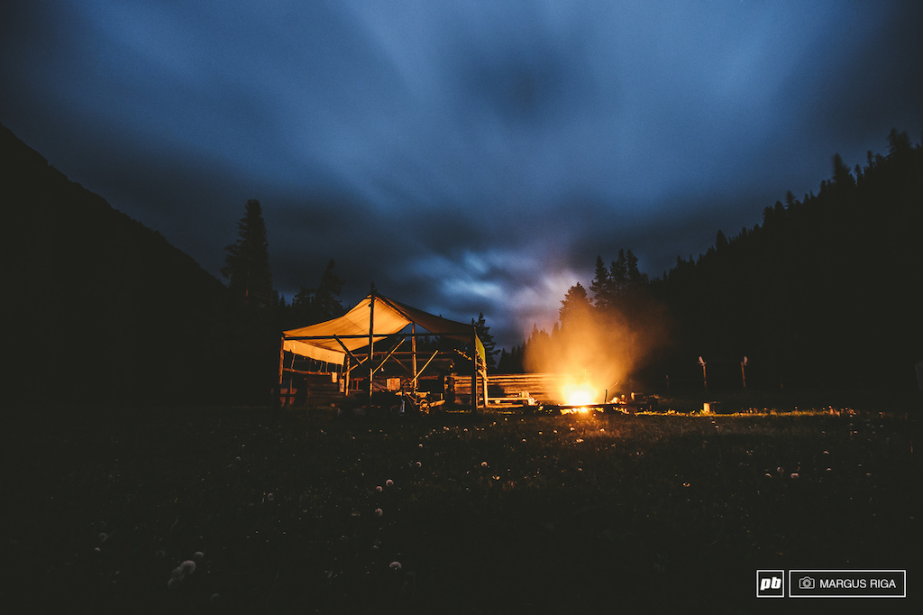 Cowboy camp in the South Chilcotins. One of the many manned camps that pepper the trail networks here. For a small fee you can arrange to have a warm meal and a place to sleep while on a multi-day trip.