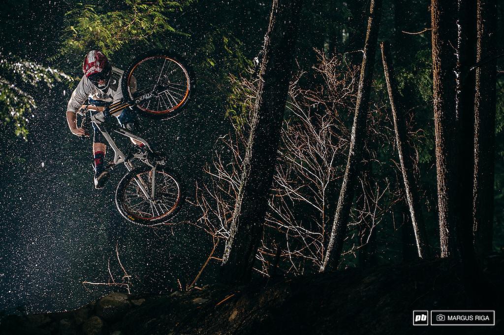 Brendan Howey Raceface ad shoot on Mount Seymour North Vancouver.