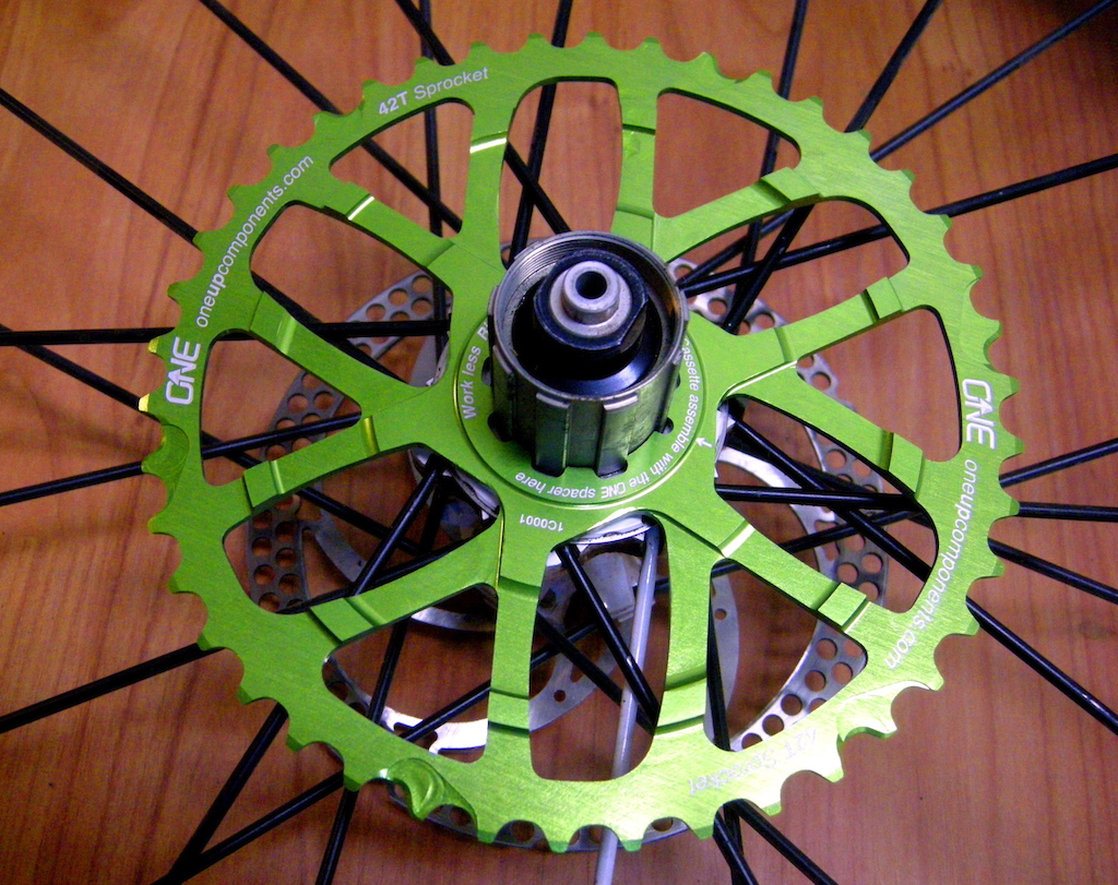 Oneup Components 42 tooth cog test review Cassette with cog installed
