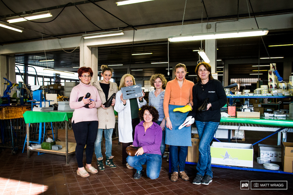 This small group of women and XXXX who preferred to not be photographed are responsible for making all of Selle San Marco s saddles.