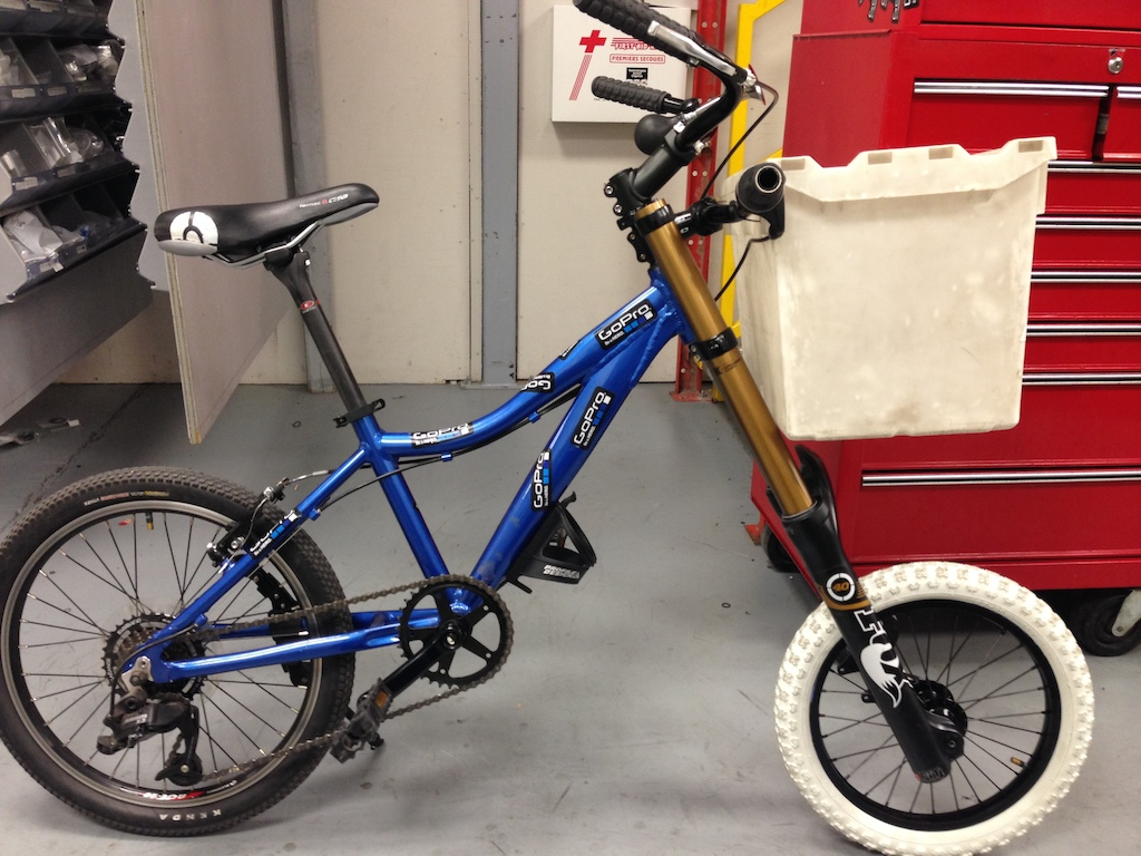 """Upgraded the warehouse bike..and yes that's a 16""""rim laced to a 20mmHub."""