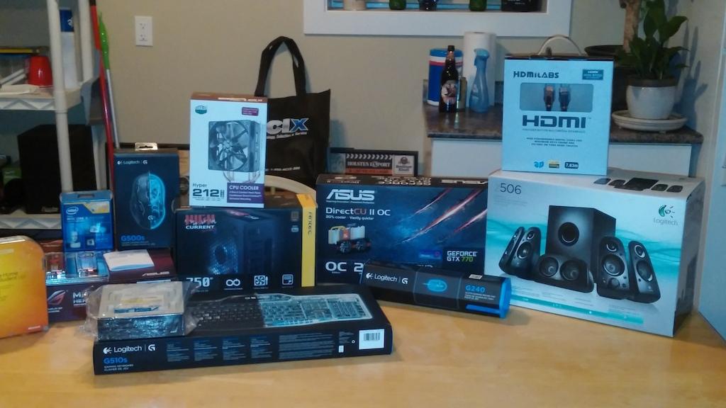 PC Parts minus the case