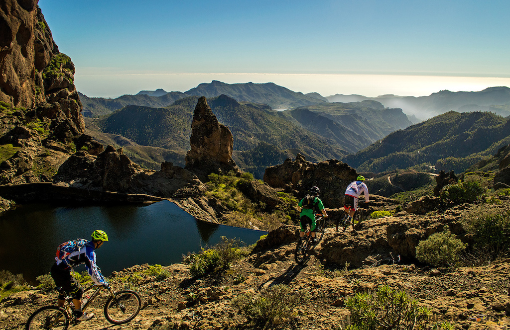 "Incredible day in Gran Canaria testing the new Trek Fuel EX8 29"" from 2000m high to the sea. Enduro and DH paradise.