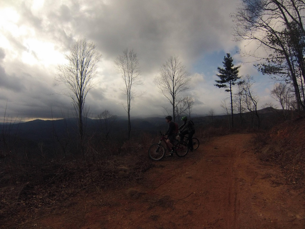 The awesome view halfway up the fire road climb to the start of the trail.