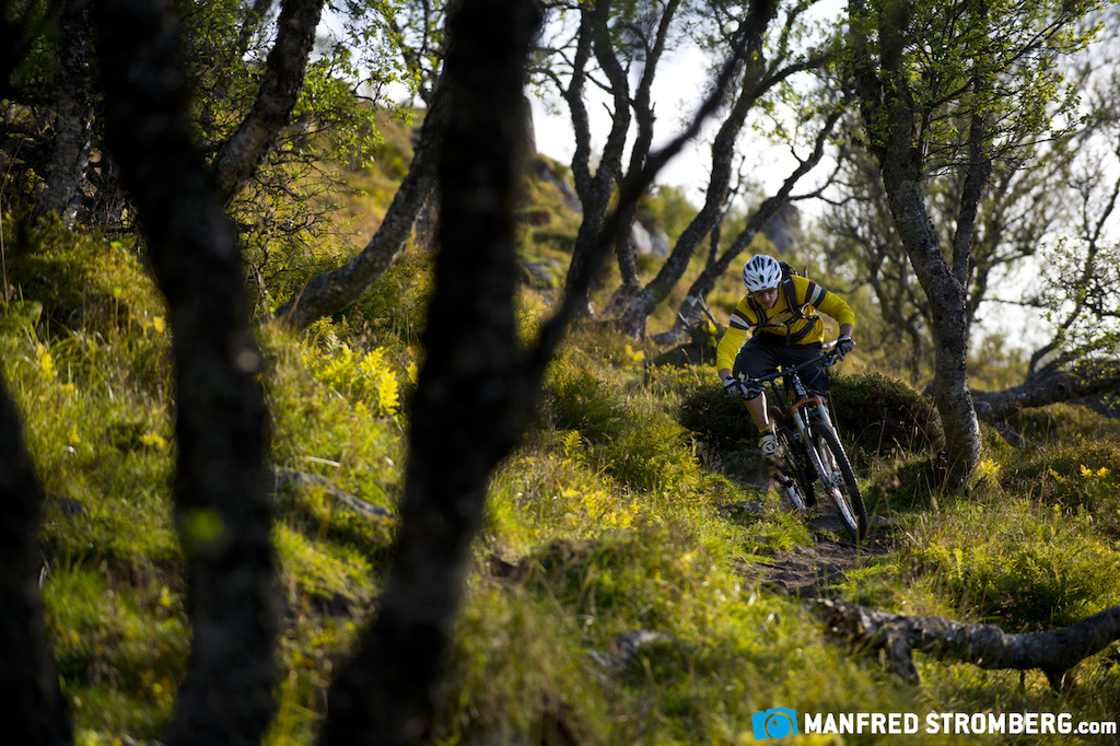 Riding on the Lofoten islands is not just steep and technical. Around the Leknes area in the middle of the Island are some local flow trails and manbuild DH Tracks.