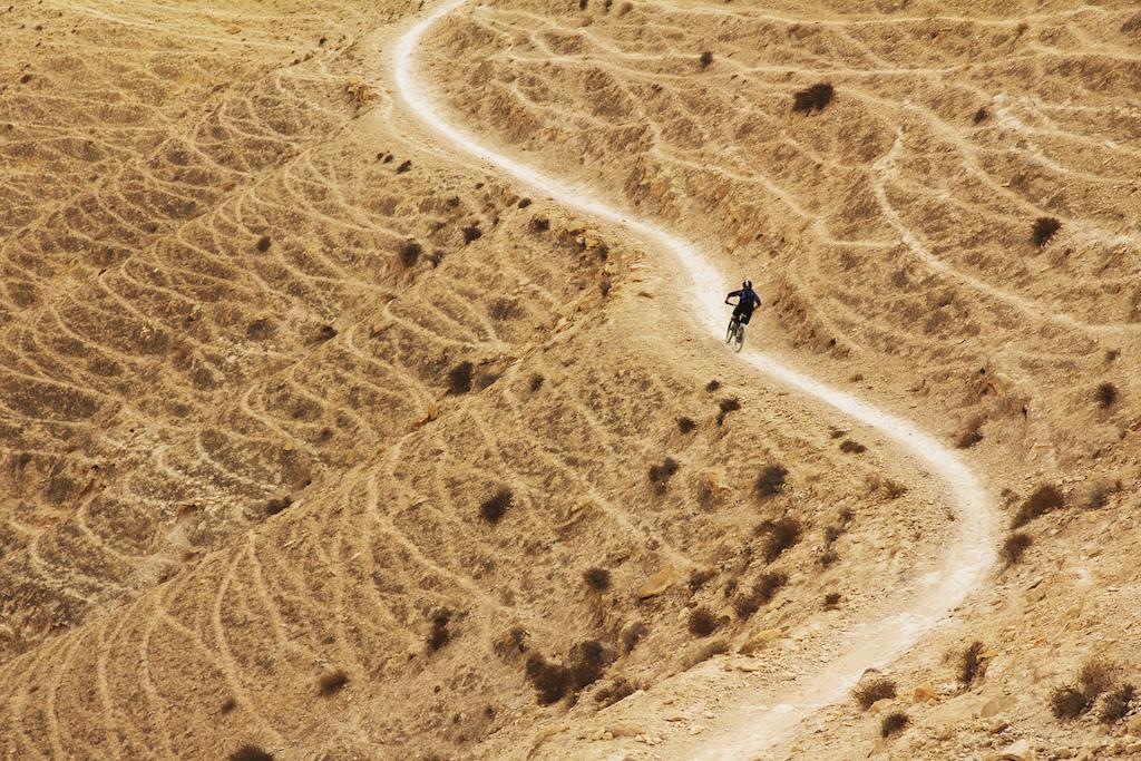 Sarah Desert Weaving. Hopkins photo.