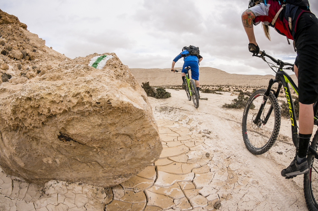 Those trail markers sure come in handy in the middle of the Israeli desert. Marc Gasch photo