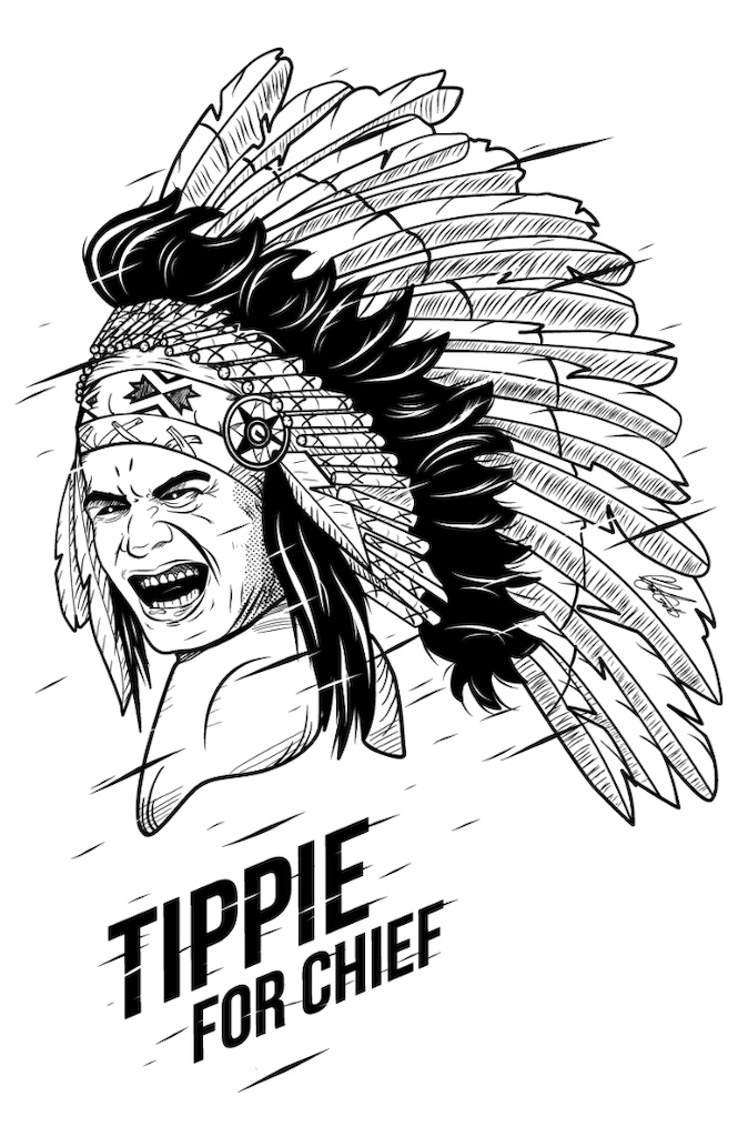 Front of Tippie Shirt - art by Micayla Gatto