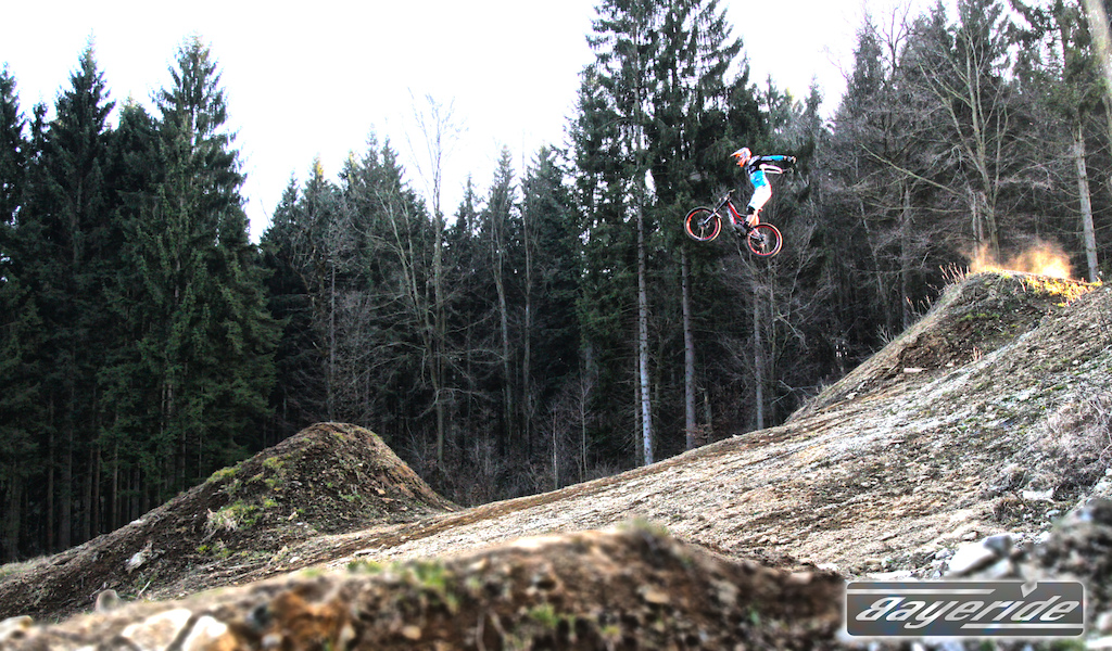 Finaly the Big Bike Park can be enterend again. Everything dried and the snow is gone. Follow us 