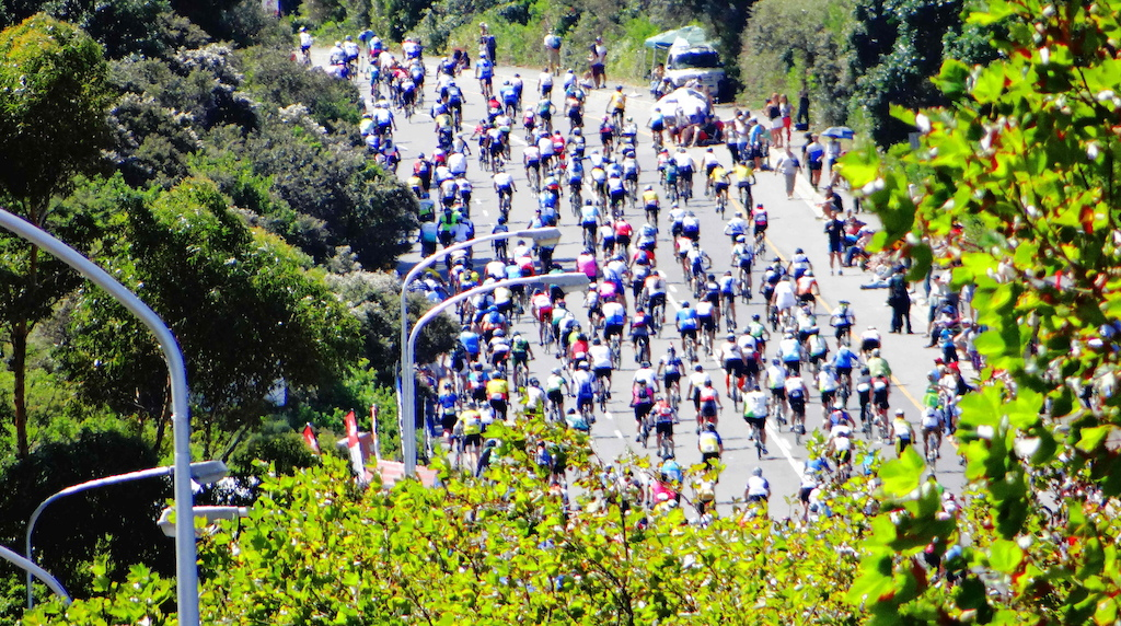 35 000 riders into the biggest time trail road in the world , right on my doorstep .