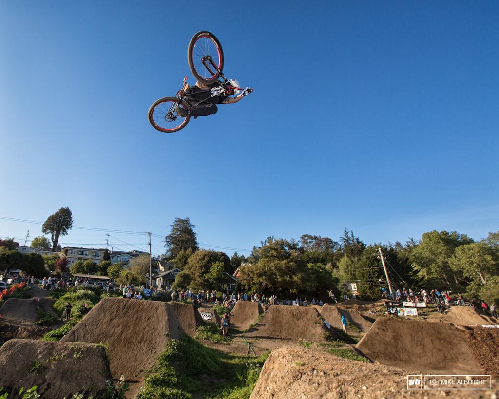Jake Kinney soaring at the 2014 Santa Cruz Mountain Bike Festival. Follow me for more...