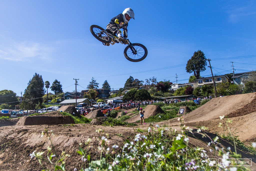 2014 Santa Cruz Mountain Bike Festival Jam at the Post Office jumps