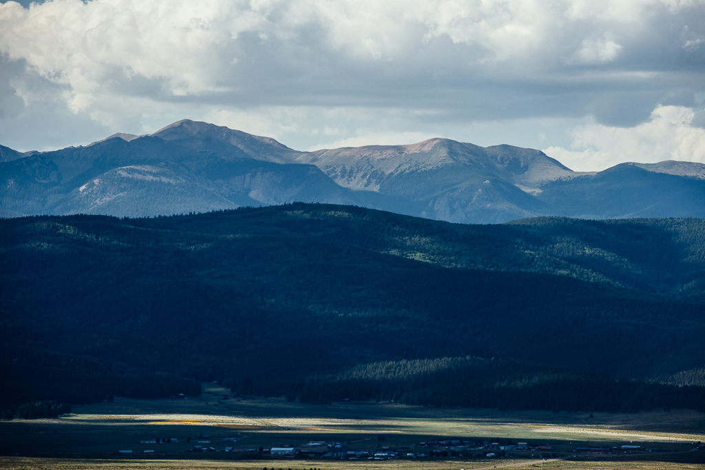 View of the Wheeler Range from Angel Fire.
