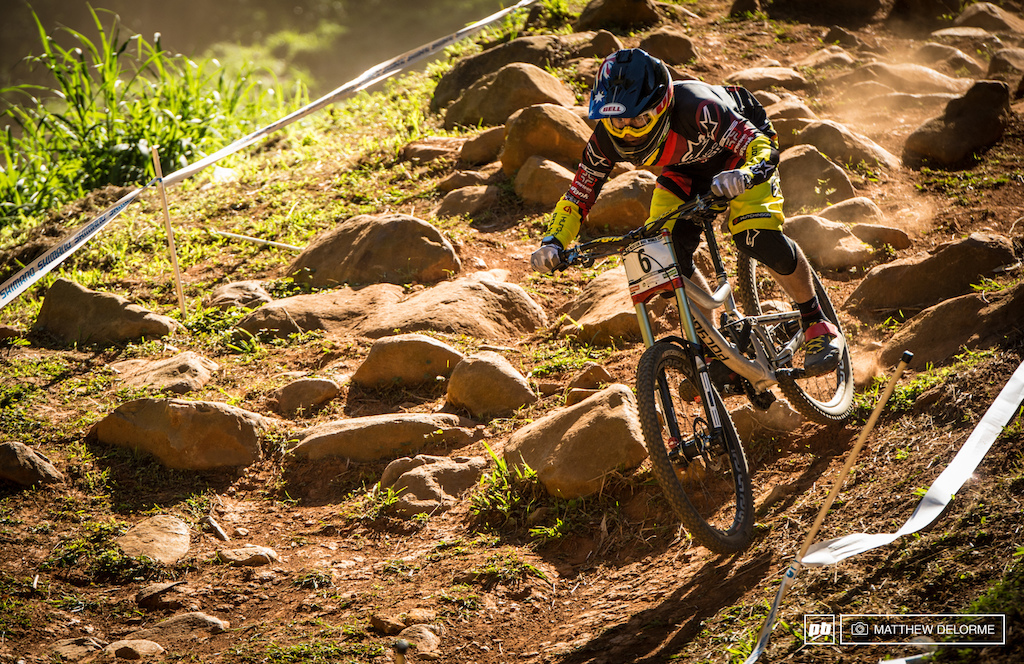Mick Hannah is definitely the danger man here in Pietermaritzburg. He has been looking incredibly fast all week, but Qualies just didn't work out in his favor today. A race run crash landed him at the back of the field in 92nd place. Mick will be hungry for the top spot on the podium tomorrow.