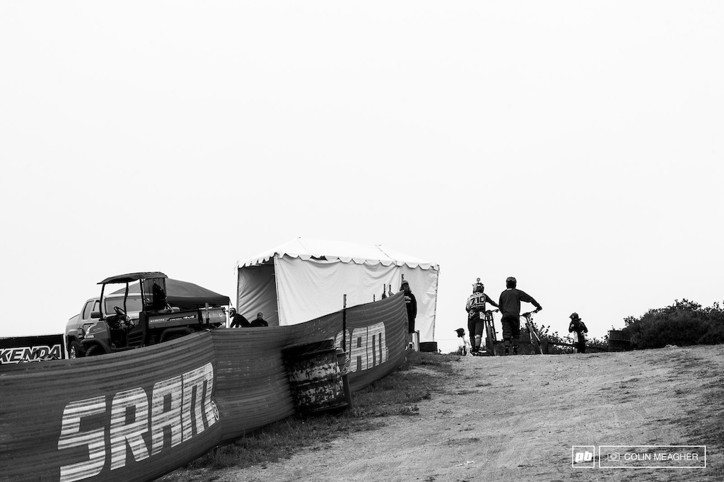 Not quite a ghost town but not the numbers we ve seen the past couple of years... Sea Otter s pro DH practice saw a bit of a dip in numbers with most of the big kids vying for World Cup Glory in South Africa.