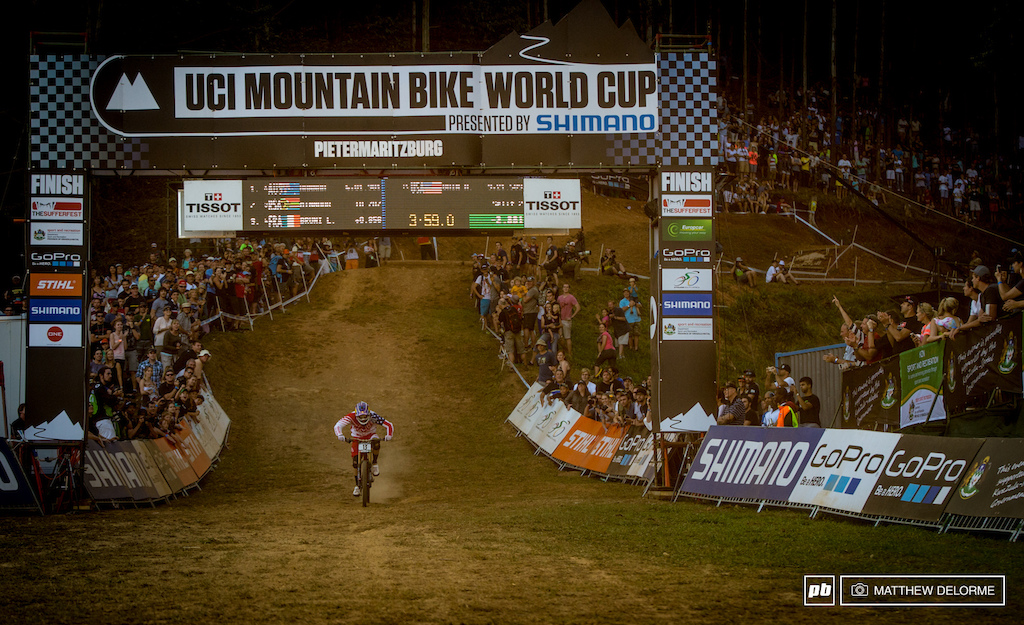 PMB is the odd ball of the World Cup tracks but a win here looks promising for the rest of Gwin s season. We knew after yesterday that Troy and I would both be on the podium it was just a matter of where. We have a really dialed team right now and I m stoked to get the win. Now we just need to keep the momentum rolling.