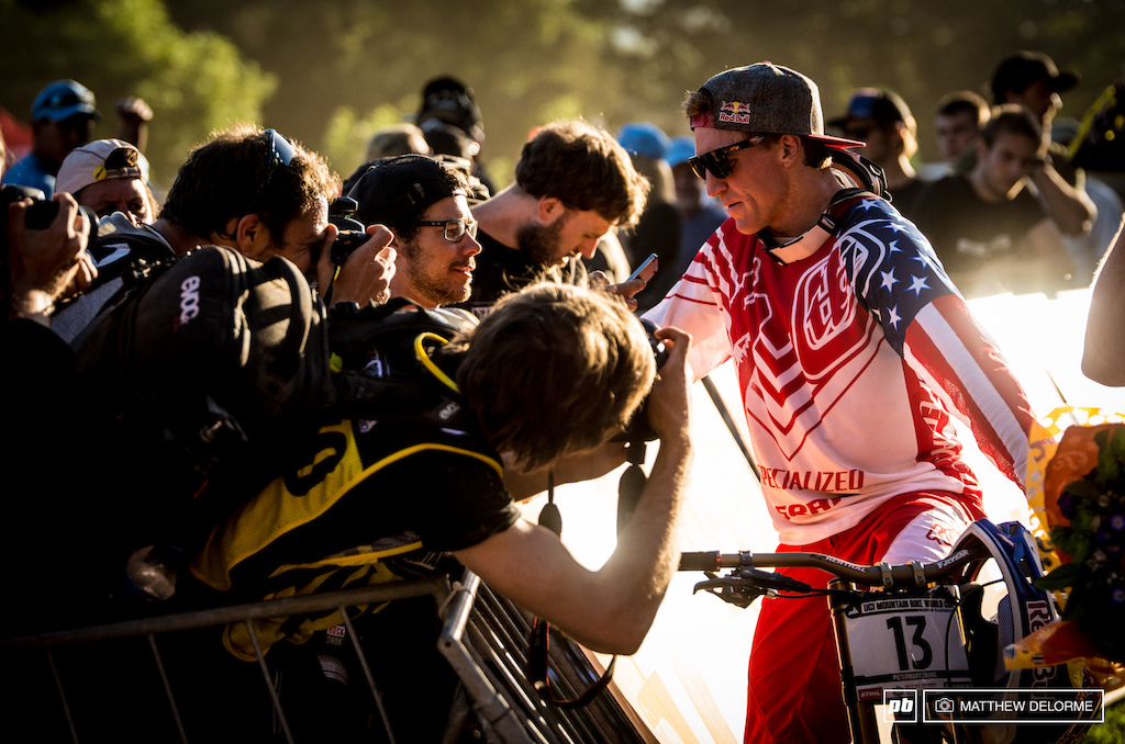 A commanding win at Pietermaritzburg has catapulted Aaron Gwin back into the spotlight. After much speculation he has shown the world just how capable he is of winning. All of us in the media wanted his take on the day.