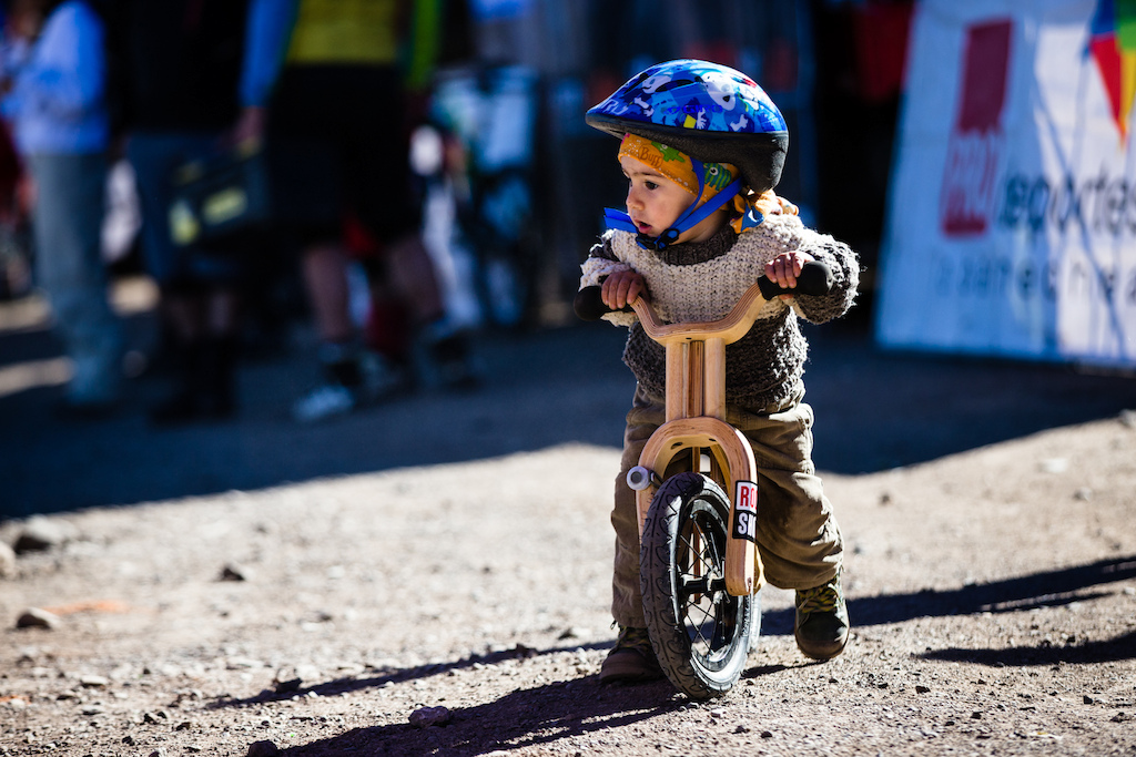 The future of Chilean enduro racing was warming up in the pits - we re not sure he ll be ready for the 60kmp h straights for a couple of years though.