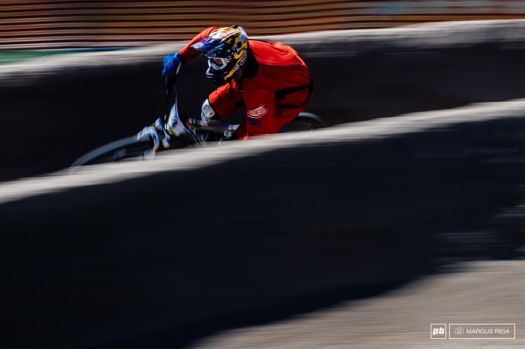 Dual Slalom training run speed blur.