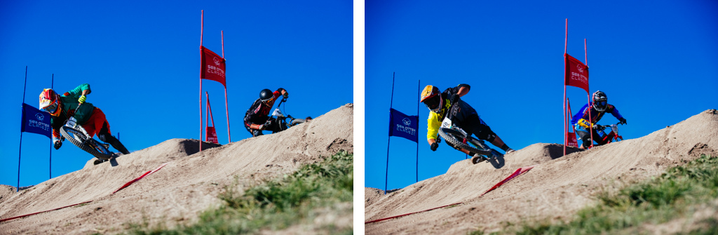 The elements of style and technique as demonstrated by the top four racers in the semi s. Cody and Kyle both advancing to the finals.