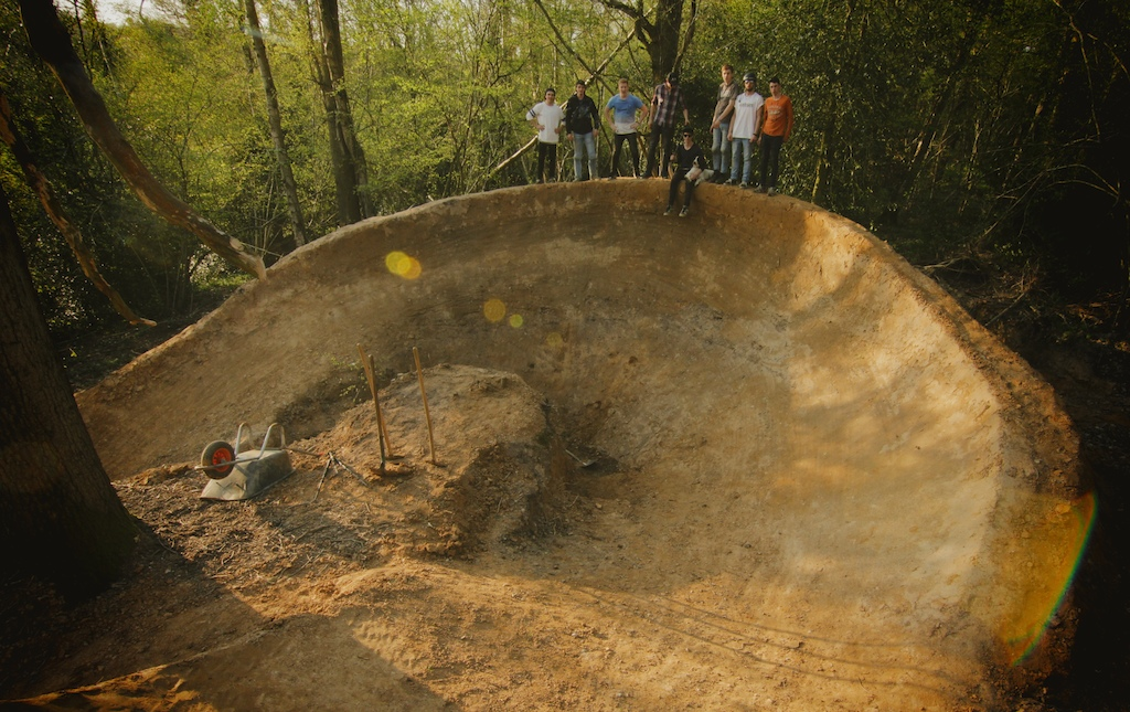 Stoked on getting the big berm done