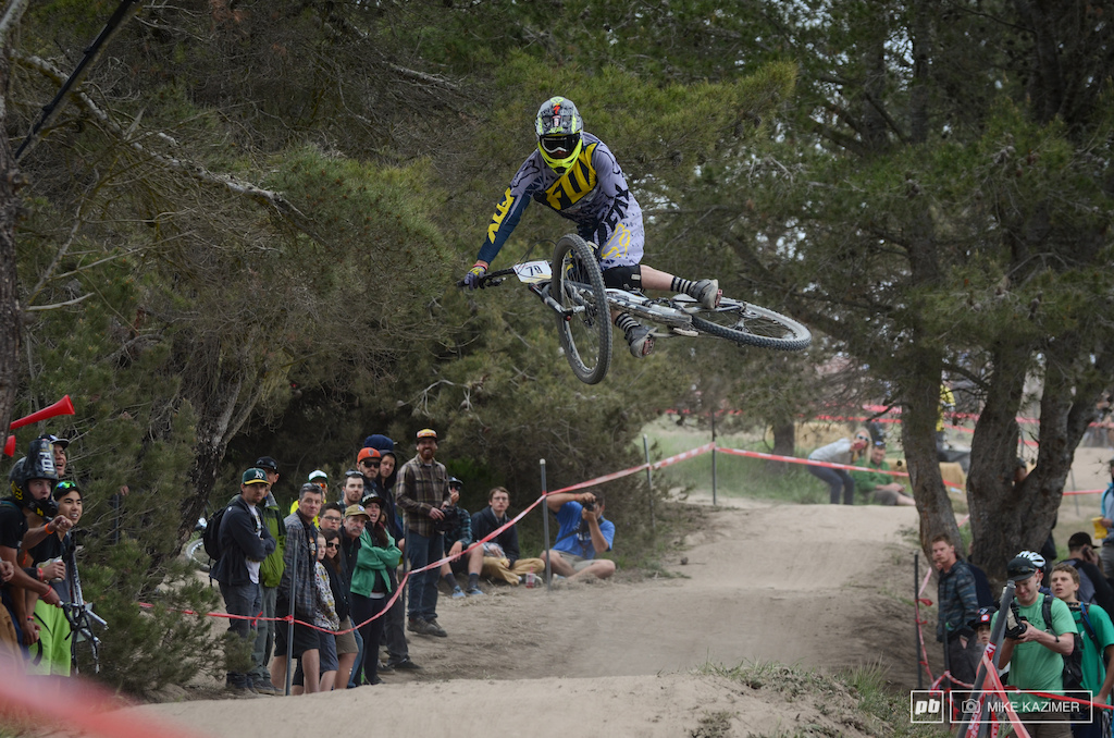 Kirt Voreis whips it out at the 2014 Sea Otter Classic.