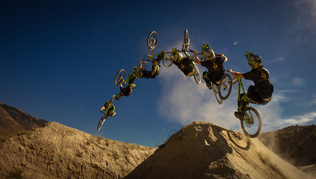 Team Infocus rider Andi Tillmann getting rowdy on his Gambler in Kamloops.