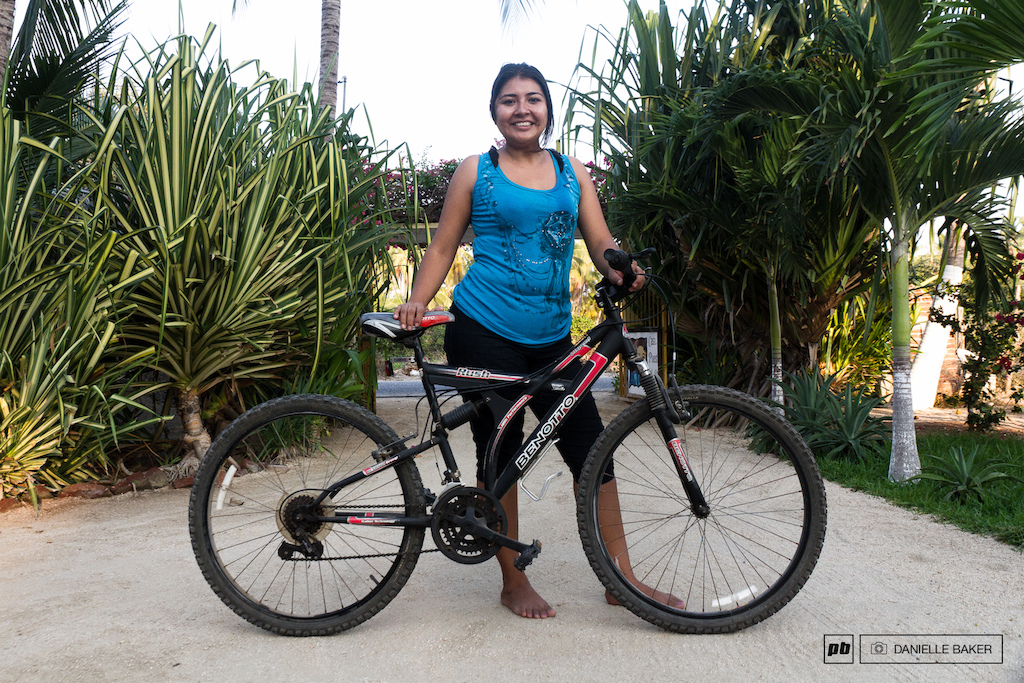 Lizette took a loan of 300 from her employers to buy her bike. It is one of the most expensive and newest bikes in the village and she still has no concerns about theft.
