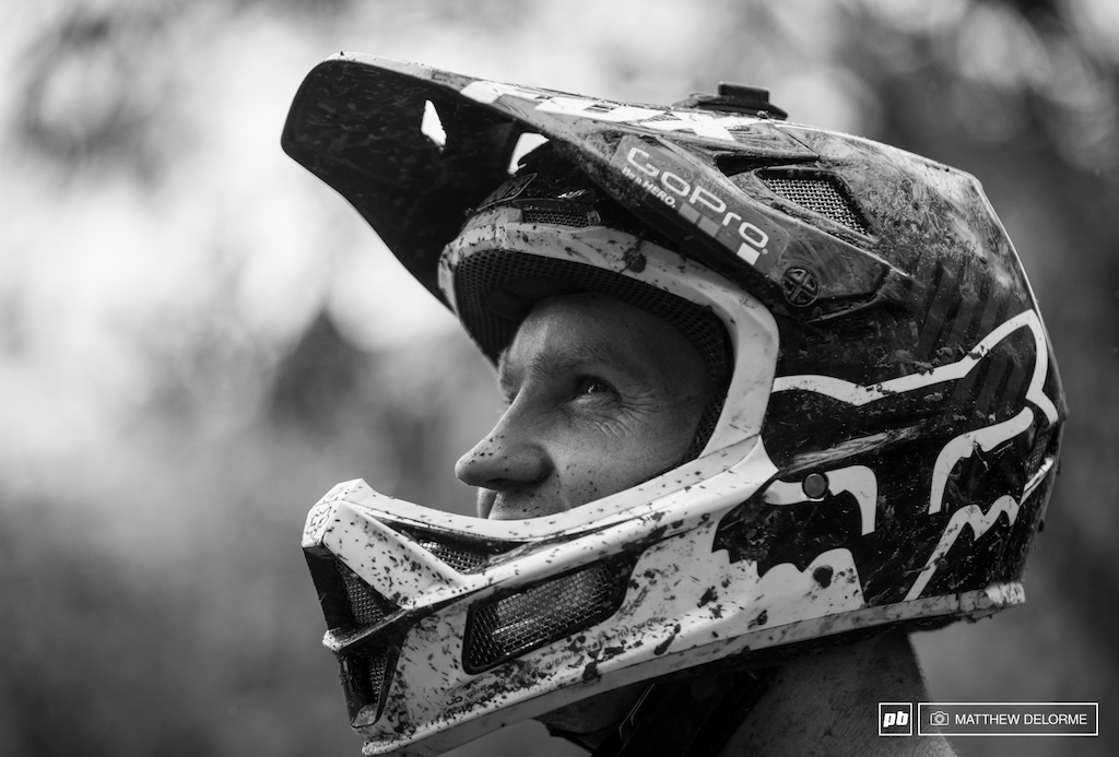 Cam Cole contemplating how many more runs to take for the day. I know the track now but if the weather keeps up it will just keep changing. Not sure I want to be wet all day only to have to learn new lines tomorrow.
