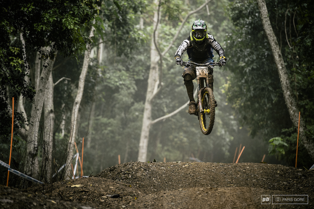 Sam Hill keeping things low and not so boosty off the triple.