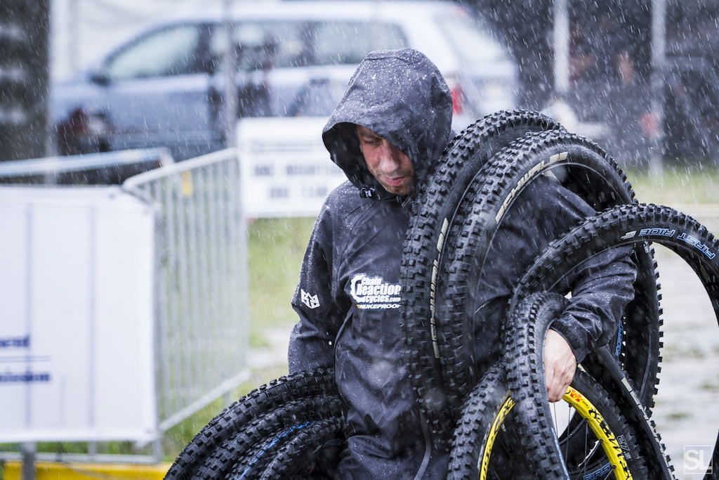 Nigel Page from Team CRC putting on his best michelin man impression
