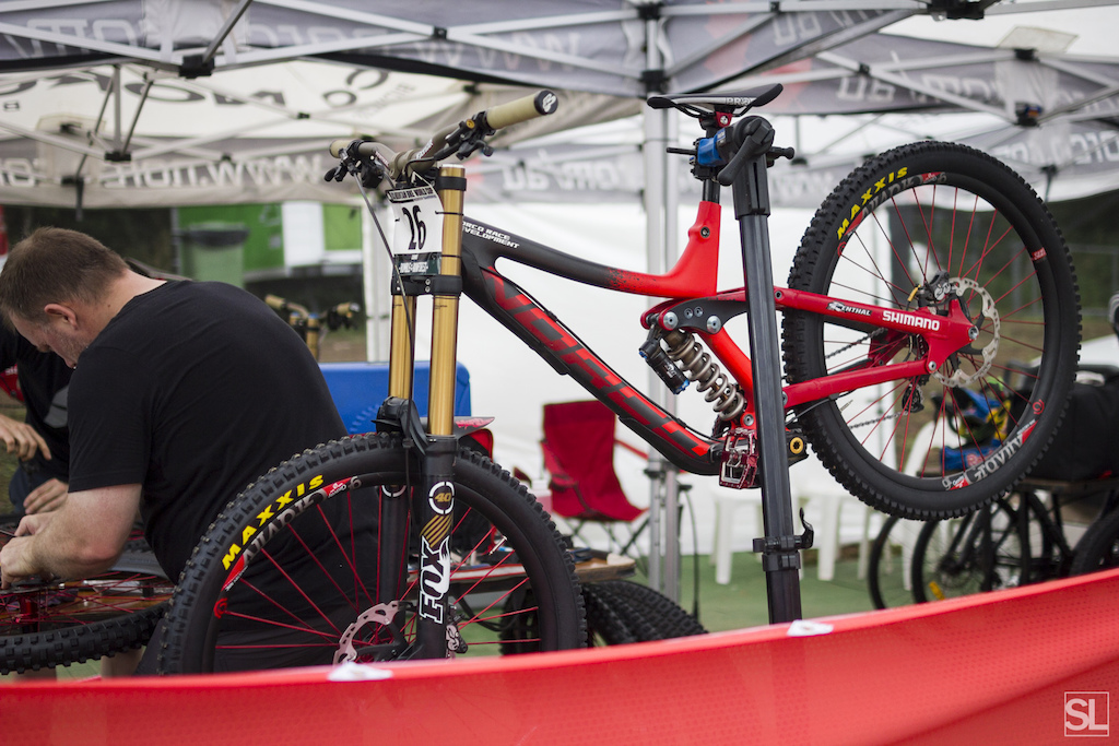 The new Norco downhill prototype. Two words: Carbon. 650b.