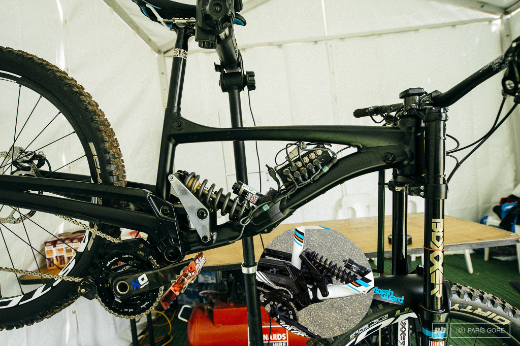 Lapierre 722 prototype with data acquisition Cairn WC 2014