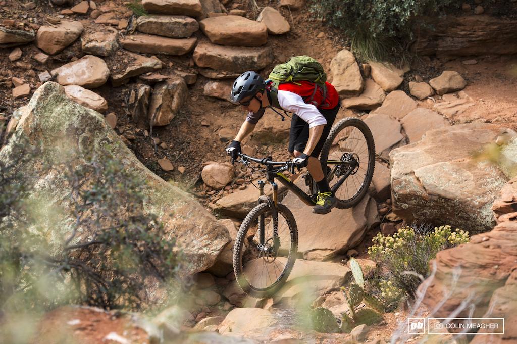 Mike Kazimer testing the BMC Trailfox in Sedona AZ