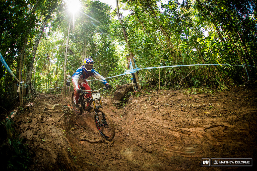 Aaron Gwin just didn t have what it took to follow up on his win in South Africa. As rainwater evaporated the mud turned into a thick clay that wouldn t clean from tires it was a constant battle to stay upright.