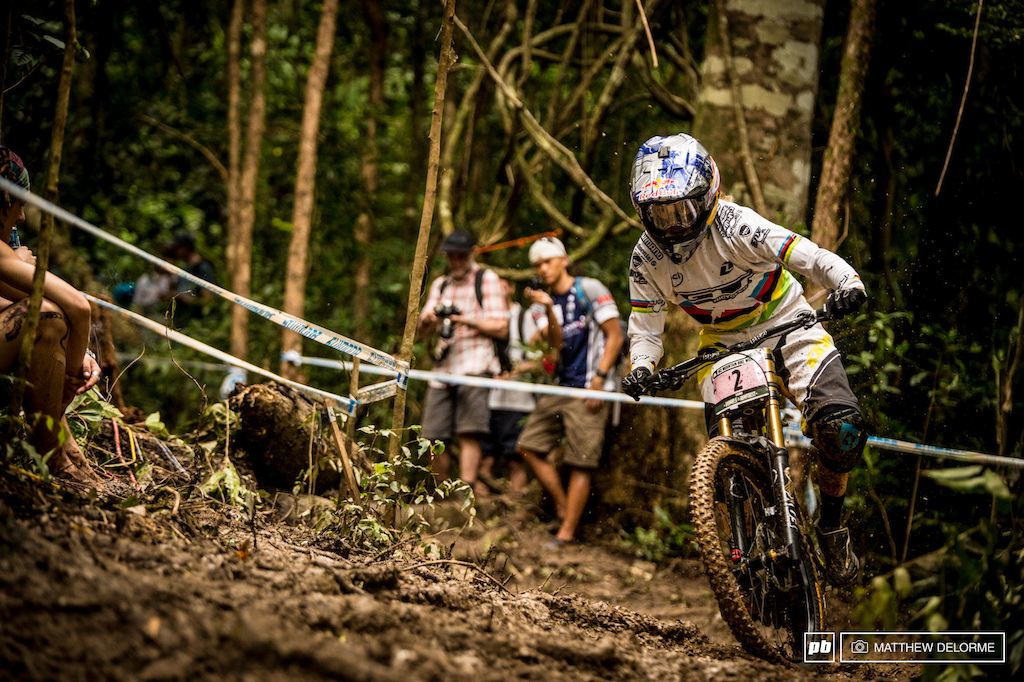 Rachel Atherton is clearly over the illness she succumbed to in South Africa. Atherton finished nearly twelve seconds up on Manon Carpenter to take her first win of the season.