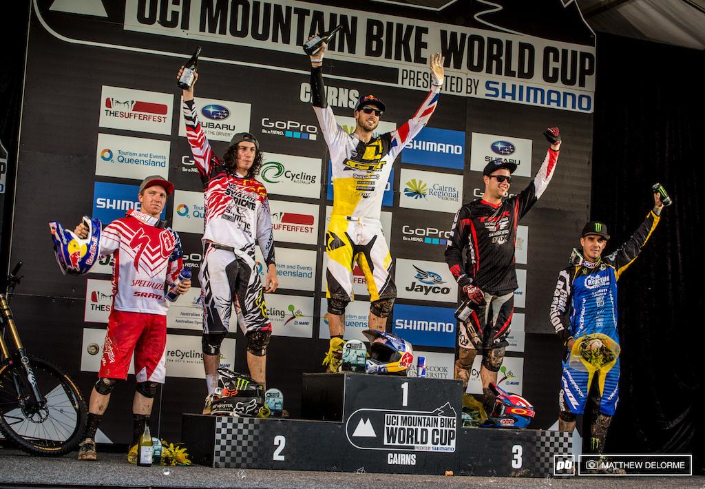 UCI Mountain Bike Podium Cairns
