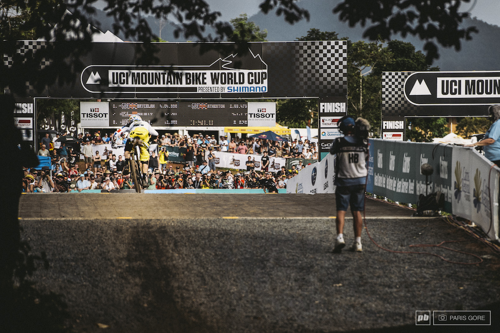 Gee Atherton sprinting for gold.