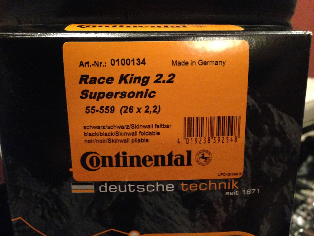 2013 Continental Race King 26x 2.2 Supersonic Handmade in Germany
